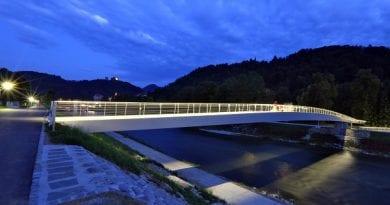 Celjska Splavarska brv je na razstavi v Frankfurtu predstavljena kot eden izmed najboljših projektov vzorčnih mest,Savinjska