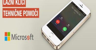 PREVARA: Klici lažne Microsoftove tehnične podpore!