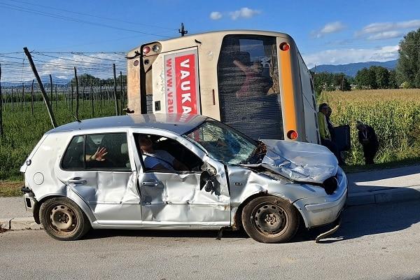 V Žalcu preverili usposobljenost zaščitno reševalnih služb ob množični cestni nesreči, Savinjska regija