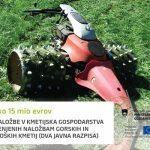 Skoraj 16 milijonov evrov za naložbe v kmetijska gospodarstva – za naložbe gorskih in ekoloških kmetij